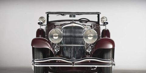 A 1935 Duesenberg Model SJ Convertible Coupe by Walker-LaGrande was the top-seller for the weekend.