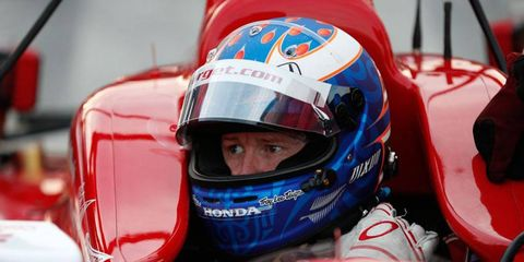 Scott Dixon, 32, hopes to be racing at least until he's 40, he says.