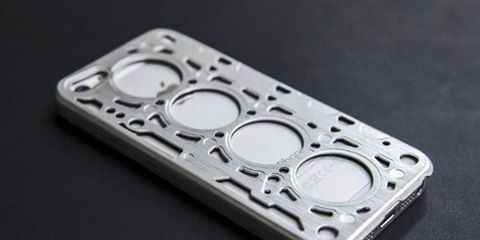 A new iPhone 5 case designed to resemble the head gasket of a V8 engine will be available on March 20th.