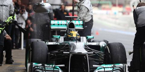Lewis Hamilton will try to make noise with Mercedes this year after racing for McLaren.
