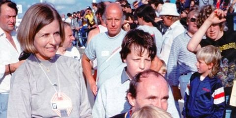 Virginia Williams, left, wife of Wiliams F1 team founder and owner Sir Frank Williams, died at the age of 66 after a bout with cancer.