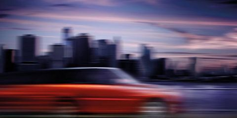 A blurry first look at the redesigned Range Rover Sport, which debuts at the 2013 New York auto show.