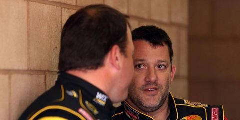 Tony Stewart, right, is just 22nd in the NASCAR Sprint Cup Series points after five races.
