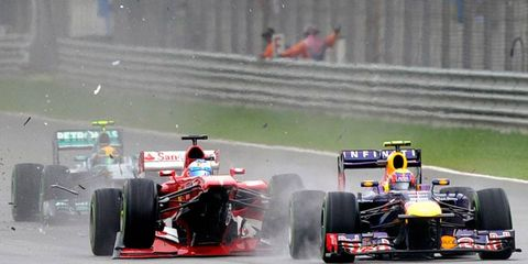 Fernando Alonso's Ferrari suffered heavy damage on Sunday at the Malaysian Grand Prix and he was forced to retire.