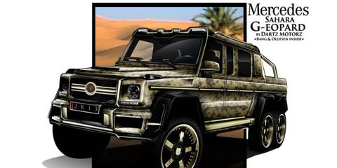 If the G63 AMG 6x6 isn't opulent enough, Dartz will now convert yours to Sahara G-eopard spec.
