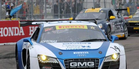 James Sofronas and Audi scored a GT win on Sunday.