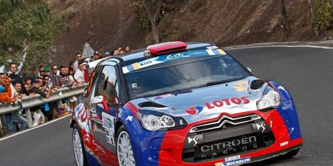 Robert Kubica was dominant in European Rally event, but crashed out with less than 4 miles remaining in state 10.