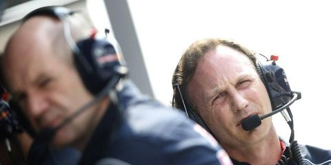 Red Bull principal Christian Horner was not happy with is driver, Sebastian Vettel. Vettel passed teammate Mark Webber in the final laps of the race, despite being ordered not to.