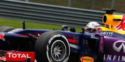 Infiniti Red Bull's Sebastian Vettel races to the pole on Saturday in Malaysia.
