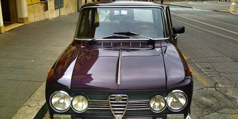 A 1970 Alfa Romeo Giulia Super is one way to explore the Eternal City. Perhaps the best way.