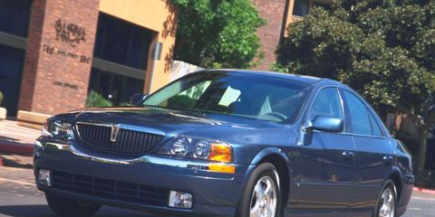 Lincoln pulled the wraps off the LS sedan at the 1998 New York auto show.