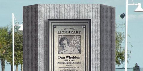 Here's an artist rendering of a Dan Wheldon memorial display slated to be unveiled on Thursday in St. Petersburg, Fla.