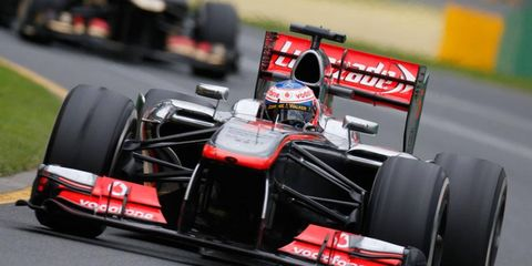 Jenson Button finished ninth in his first Formula One race for McLaren at Australia on March 17.