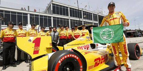 Ryan Hunter-Reay won his first pole of the IndyCar season with a first-place qualifying win at Alabama.