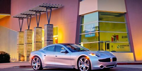 The Fisker Karma hybrid uses a lithium-ion battery pack.