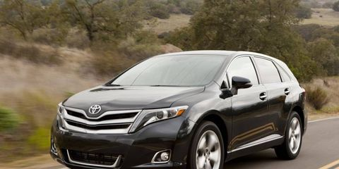 Our 2013 Toyota Venza tester was powered by a 3.5-liter V6 making 268 hp and 246 lb-ft of torque. Limited trim shown.