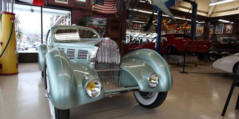 The Bugatti Aerolithe re-creation performed by the Guild of Automotive Restorers.