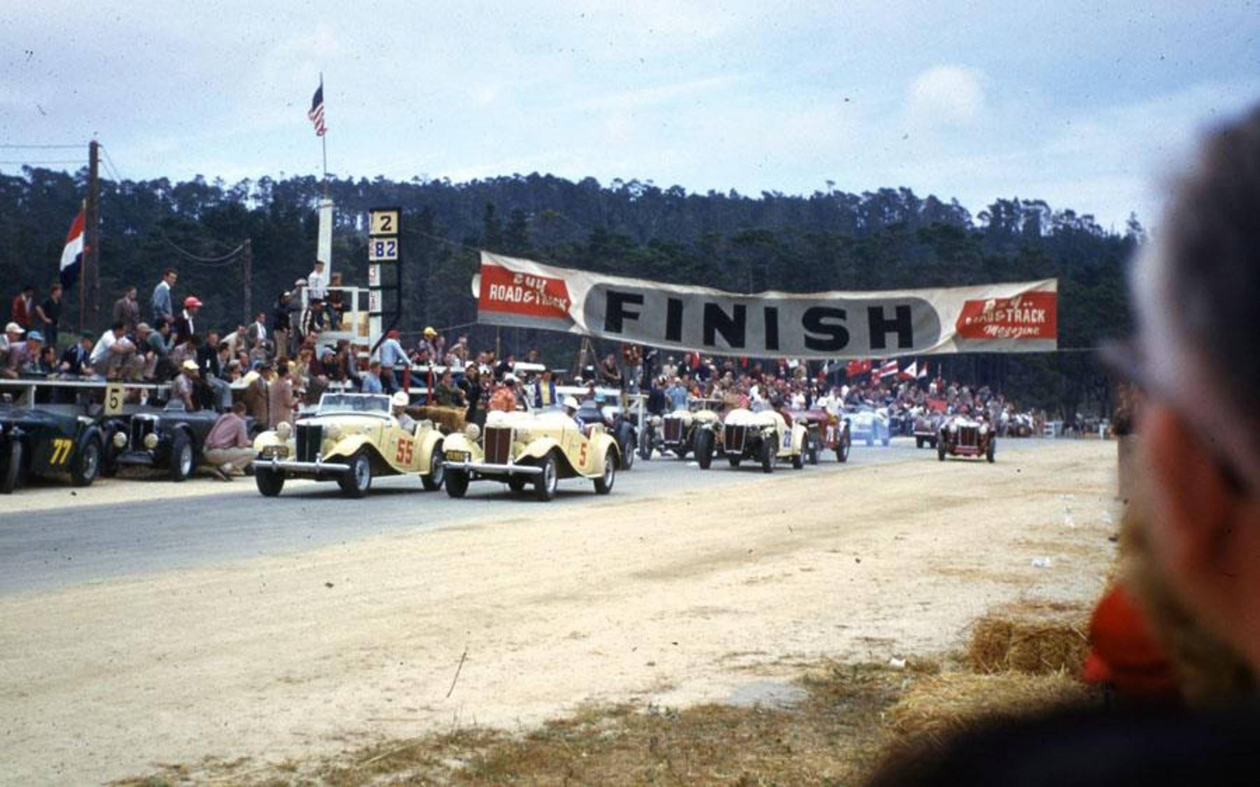 Pebble Beach Road Race Poster 1950
