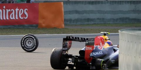 The wheels came off during a series of Chinese Grand Prix tweets.