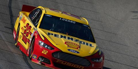 Joey Logano's No. 22 Ford had issues with inspectors before the start of the NRA 500 at Texas Motor Speedway on Saturday.