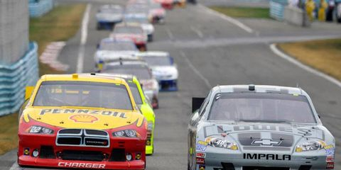 When NASCAR returns to the road courses of Sonoma in June and Watkins Glen (above) in August, the Sprint Cup Series will qualify in a multi-car session, instead of one car at a time.