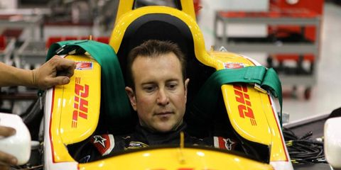 Kurt Busch tested Ryan Hunter-Reay's IndyCar on Thursday. He drove around Indianapolis Motor Speedway for almost five hours.