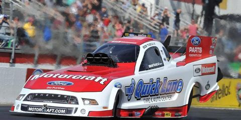 On Saturday it was announced that heavy rain in Atlanta would hinder NHRA action.