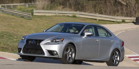 No manual is offered on the Lexus IS.