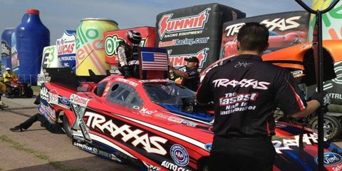 Courtney Force will be back in her Funny Car on Friday after rain washed out last week's event in Atlanta.