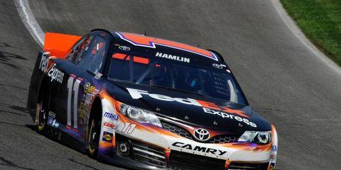Denny Hamlin plans on starting the NASCAR Sprint Cup Series race at Talladega on Sunday.