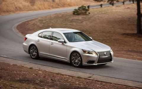 The 2013 Lexus LS 460 L is equipped with a 4.6-liter V8.
