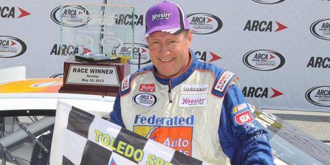 Ken Schrader, just 10 days shy of his 58th birthday, won an ARCA Series race at Toledo on Sunday.