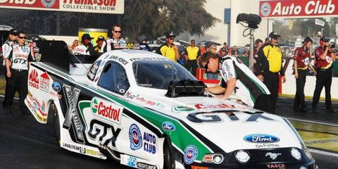It took 19 races, but John Force is back in the No. 1 spot at an NHRA event. He took the top spot in the Funny Car division Saturday in Kansas.