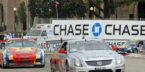Johnny O'Connell dominated the Pirelli World Challenge race in Austin on Saturday.