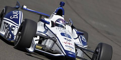 Katherine Legge, shown last year in her Dragon Racing ride, will be participating in the Indy 500 again. She will be driving for Schmidt Peterson Motorsports.