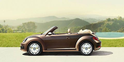 The 2013 Volkswagen Beetle 2.5L 70's Edition Convertible is loud and a little slow.