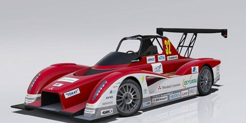 Mitsubishi's i-MiEV Evolution II dispenses with any pretense of visual connection to the road car.
