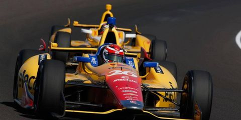 Carlos Munoz has been quickest in practice for this year's running of the Indianapolis 500.