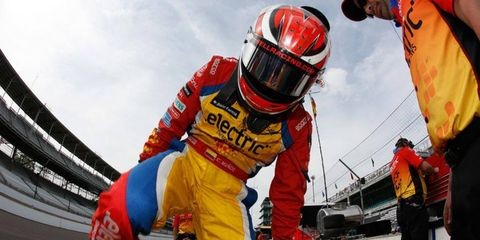 Carlos Munoz posted the fastest speed of the month on Thursday at the Indianapolis Motor Speedway.