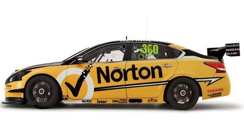 The Nissan Altima V8 Supercar of driver Michael Caruso and Norton 360 Racing will be at Circuit of the Americas this weekend.