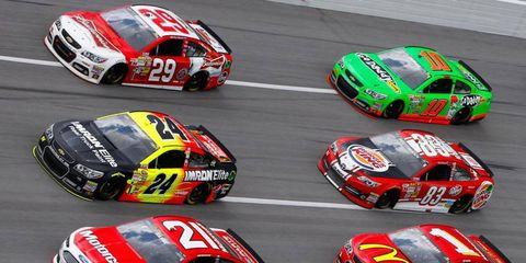 Cup rookie Danica Patrick (10) has had problems running with the leaders this year in the NASCAR Sprint Cup Series.