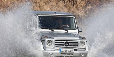 The 2013 Mercedes-Benz G-Class maintains the iconic boxy look of the original.