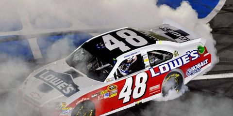 Jimmie Johnson won the 2012 NASCAR Sprint All-Star race at Charlotte, N.C., for the third time.
