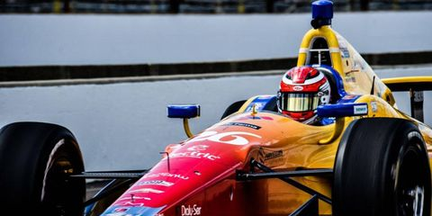 Rookie Carlos Munoz was atop of the speed charts on Sunday at the Indianapolis Motor Speedway.