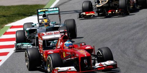 Fernando Alonso won the Formula One Spanish Grand Prix on his home turf on Sunday in Barcelona.