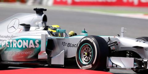 Nico Rosberg's pole in Barcelona was his second of the 2013 Formula One season.