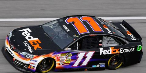 Denny Hamlin plans to run the full race at Darlington on Saturday. It will be his first full race since he suffered a back injury on March 24.