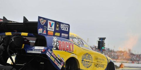 Matt Hagan is in the No. 1 qualifying spot for the first time since 2011 after his fast run at Atlanta on Friday.