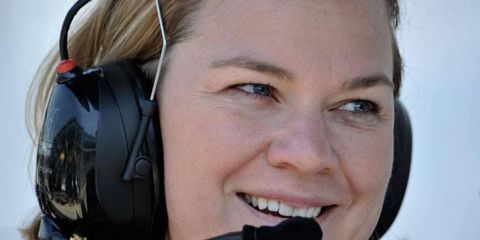 Sarah Fisher of Sarah Fisher Hartman Racing finds her team in the middle of a legal controversy.