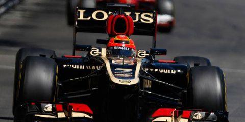 Kimi Räikkönen's chance at a podium finish at the Monaco Grand Prix was derailed by Sergio Perez.